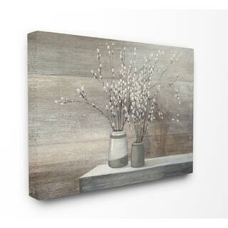 Willow Still Life Stretched Canvas Wall Art