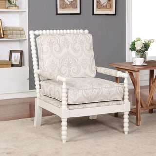 Link to Linon Nesbit Beige Spindal Wood Frame Chair Similar Items in Accent Chairs