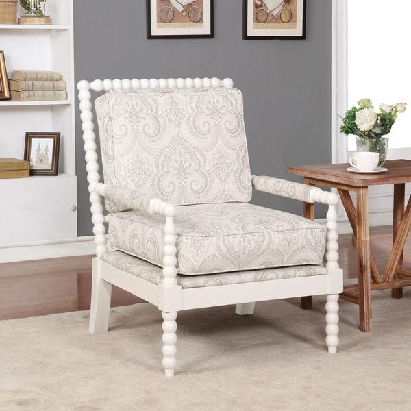 Linon Nesbit Beige Spindal Wood Frame Chair. Opens flyout.