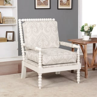 Linon Nesbit Beige Spindal Wood Frame Chair