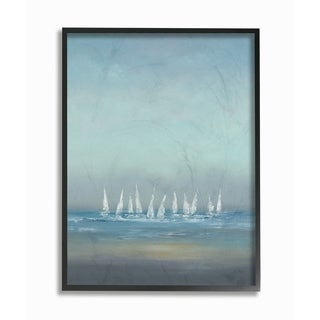 The Regatta Abstract Seascape Framed Giclee Texture Art (2 options available)