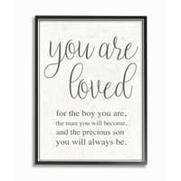 You Are Loved Framed Giclee Texture Art