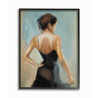 The Dancer Portrait Framed Giclee Texture Art