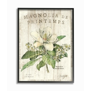 French Magnolias In Spring Framed Giclee Texture Art