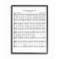It is Well Vintage Sheet Music Framed Giclee Texture Art