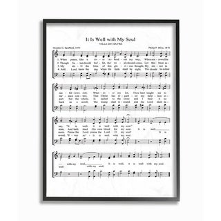 It is Well Vintage Sheet Music Framed Giclee Texture Art