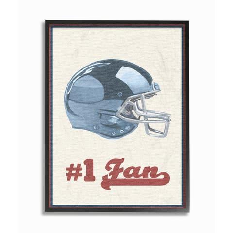Number 1 Football Fan Framed Giclee Texture Art