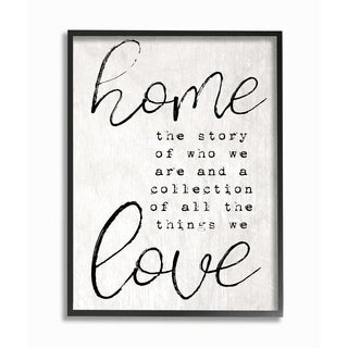 Home and Love - Story of Who We Are Framed Giclee Texture Art