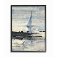 Abstract Sailing Framed Giclee Texture Art