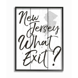 New Jersey What Exit Framed Giclee Texture Art