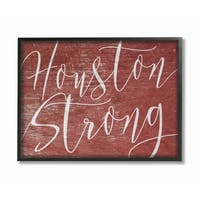 Houston Strong Framed Giclee Texture Art