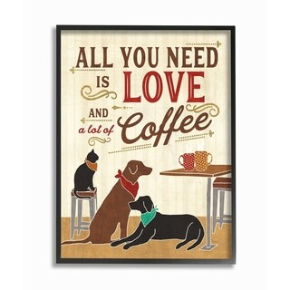 All You Need is Love and Coffee Framed Giclee Texture Art