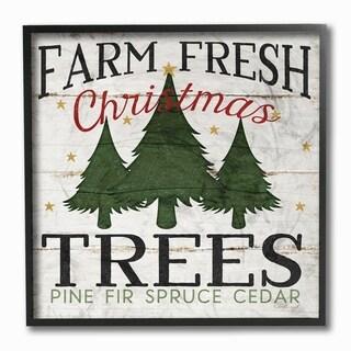 Farm Fresh Christmas Trees Framed Giclee Texture Art