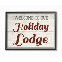 Our Holiday Lodge Vintage Framed Giclee Texture Art