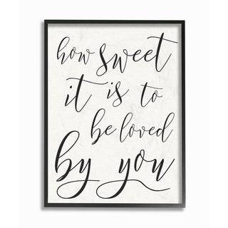How Sweet It Is Typography Framed Giclee Texture Art