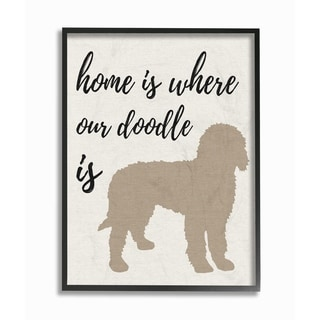 Home is Where Our Golden Doodle Is Framed Giclee Texture Art