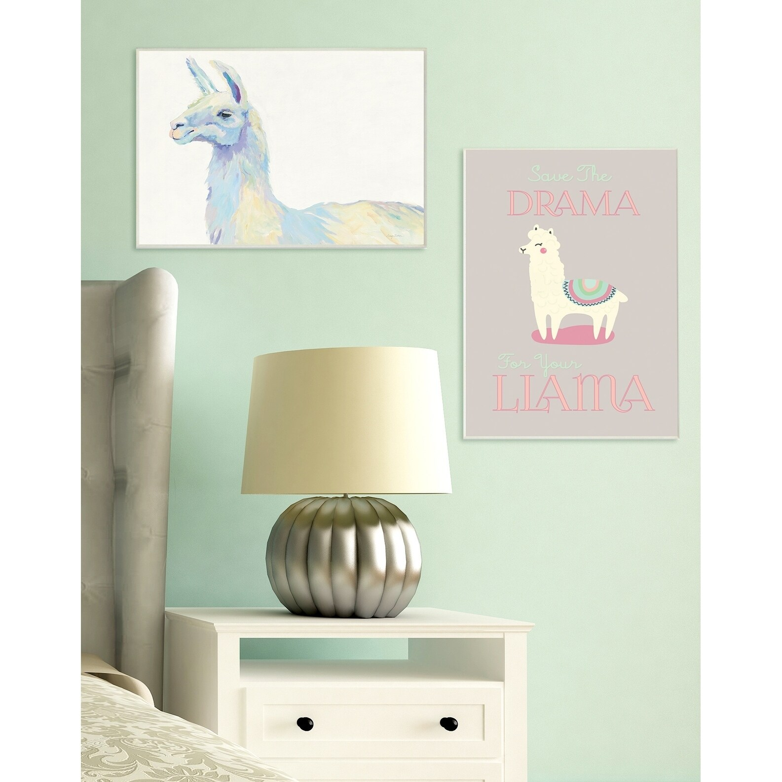 Proudly Made in USA Stupell Industries Ophelia The Llama Oversized Wall Plaque Art