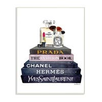 Glam Fashion Books With Makeup Wall Plaque Art