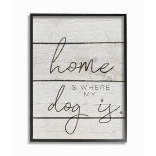 Home Is Where My Dog Is Framed Giclee Texture Art