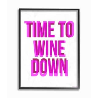 Time To WINE Down Framed Giclee Texture Art