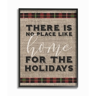 No Place Like Home For the Holidays Framed Giclee Texture Art