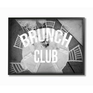 Brunch Club Table Framed Giclee Texture Art