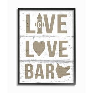 Live Love Bark Framed Giclee Texture Art