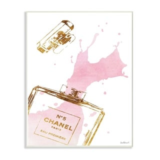 Glam Perfume Bottle Splash Wall Plaque Art