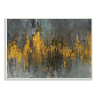 Black and Gold Abstract Fire Wall Plaque Art