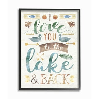 I Love You To The Lake and Back Framed Giclee Texture Art (2 options available)