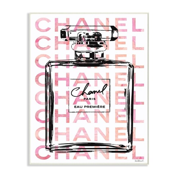 Glam Perfume Bottle w/ Words Wall Plaque Art