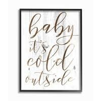 Baby Its Cold Outside Framed Giclee Texture Art