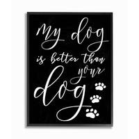 My Dog Is Better Than Your Dog Framed Giclee Texture Art