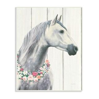 Spirit Stallion Horse w/ Wreath Wall Plaque Art