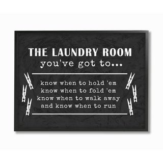 Laundry Room You've Got To Know Framed Giclee Texture Art