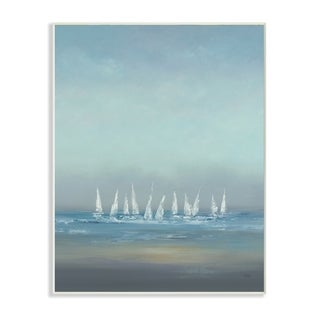 The Regatta Abstract Seascape Wall Plaque Art (2 options available)