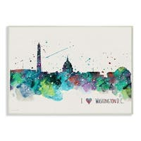 I Heart Love DC Paint Splatter Wall Plaque Art