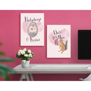 Hedgehugs and Kisses Pink Wall Plaque Art