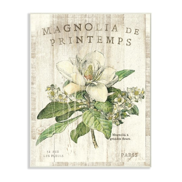 French Magnolias In Spring Wall Plaque Art