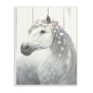 Spirit Stallion Horse w/ Crown Wall Plaque Art