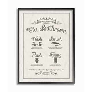 Guide To Bathroom Linen Look Framed Giclee Texture Art