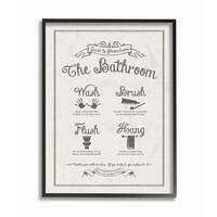 Guide To Bathroom Linen Look Framed Giclee Texture Art
