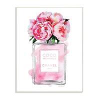 Glam Perfume Bottle V2 Peony Wall Plaque Art