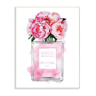 Glam Perfume Bottle V2 Peony Wall Plaque Art