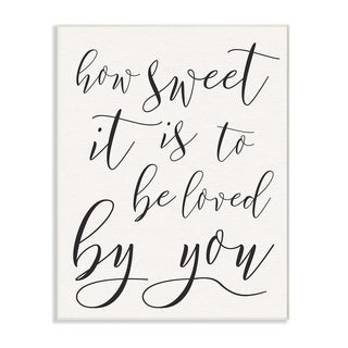 How Sweet It Is Typography Wall Plaque Art