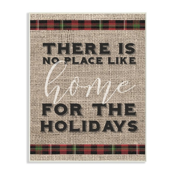 No Place Like Home For the Holidays Wall Plaque Art