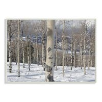 Winter Birches Photography Wall Plaque Art