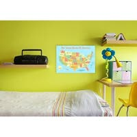 United States of America Kids Map Wall Plaque Art