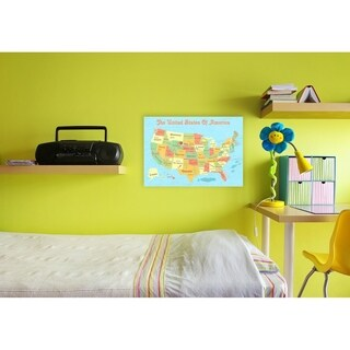 United States of America Kids Map Wall Plaque Art (2 options available)