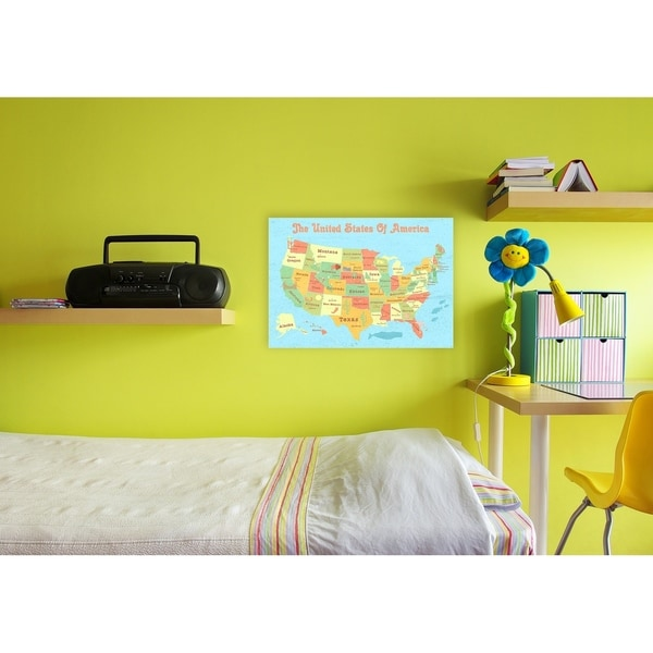 Shop United States of America Kids Map Wall Plaque Art - Free ...